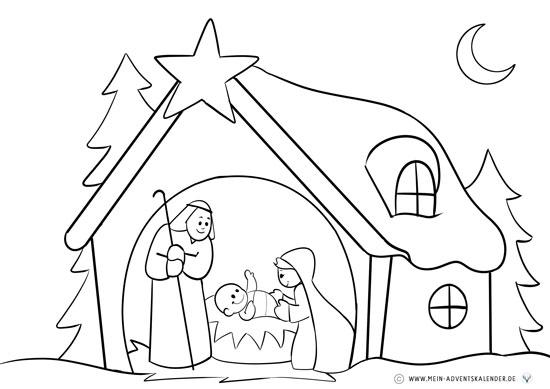 Malvorlage krippe einfach - 28 images - weihnachtskippe