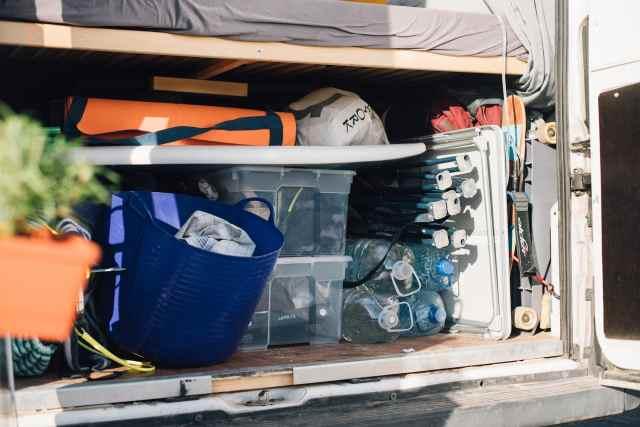 Camper Garage Stauraum unter dem Bett