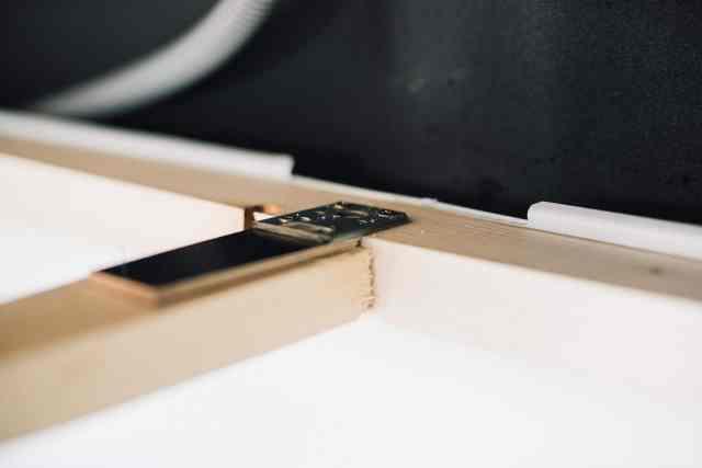 Montage camper Hängeschrank unten mit flachverbinder