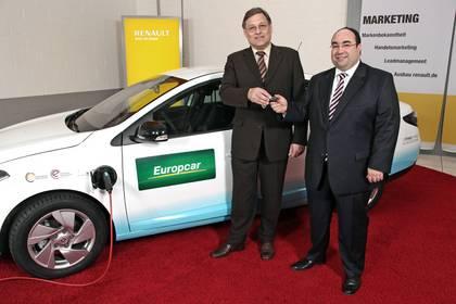 Symbolbild. Europcar übernimmt Renaults erstes Elektroauto Elektromobil Fluence ZE Zero Emission