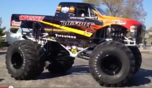 Der Monstertruck BigFoot als Elektroauto. Bildquelle: BigFoot/Youtube