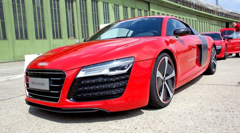 Dies ist noch die erste Version des Elektroauto Audi R8 e-tron