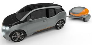 Anhänger verschafft Elektroautos eine Bonus-Reichweite von 500 Kilometern. Bildquelle: Nomadic-Power