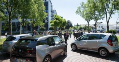 Am 24. Juni 2014 fiel der Startschuss für die Elektroautos bei SAP. © SAP AG / Ingo Cordes