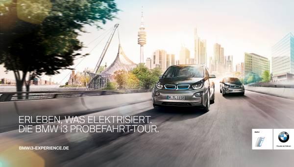 BMW i3 Probefahrt-Tour (10/2014). Bildquelle: BMW