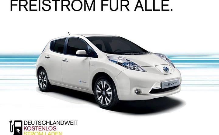"""Bei der Aktion """"Freistrom für alle"""" kann man nicht nur das Elektroauto Nissan Leaf kostenlos aufladen. Bildquelle: Nissan"""