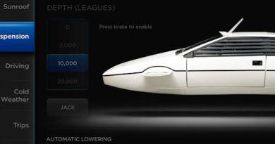 Easter Egg Elektroauto Tesla Model S als Unterwasserfahrzeug. Bildquelle: Screenshot Youtube, Kanal: Bjørn Nyland