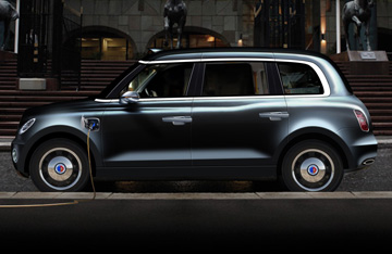 So könnte das Elektrotaxi aussehen. Bildquelle: London Taxi Company