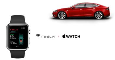 Mit der Apple Watch soll man auch das Elektroauto Tesla Model S steuern können. Bildquelle: http://elekslabs.com