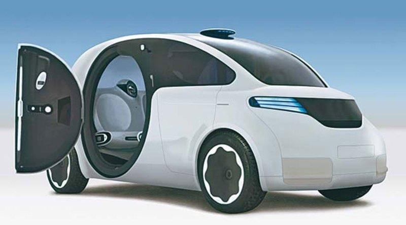 Dies ist das gerenderte Bild des Konzeptauto iCar von VW und Apple aus dem Jahr 2007-2008. Bildquelle VW AG & Apple