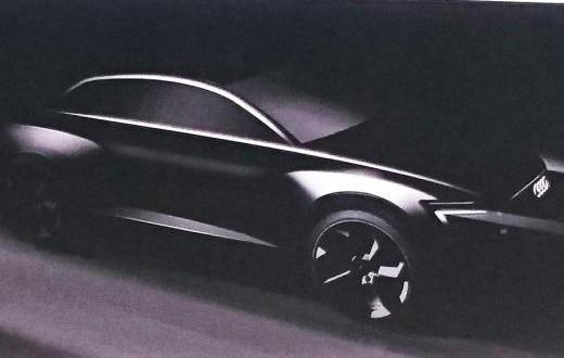 Dies ist die Schattenzeichnung des Elektro-SUV, welche bei der jährlichen Bilanz-Pressekonferenz gezeigt worden ist. Das SUV kommt im Jahr 2018 auf den Markt, das Elektroauto verfügt über eine Reichweite von mehr als 500 Kilometern. Bildquelle: Audi