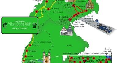 Der Routenplan der Wavetrophy. Bildquelle: Wavetrophy.com