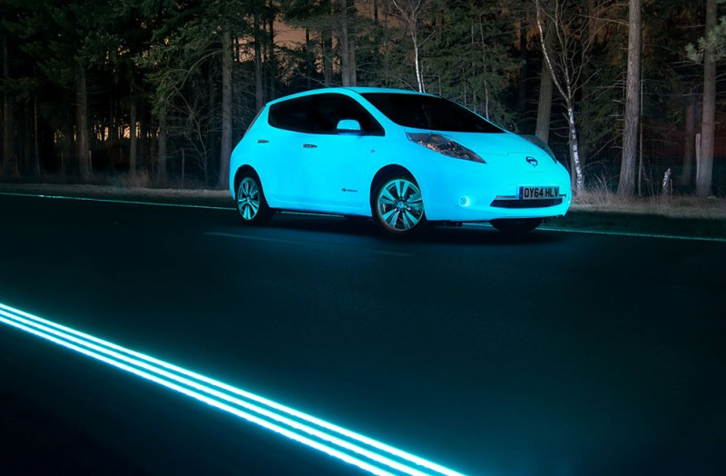 Elektroauto Nissan Leaf - Glow in the Dark. Bildquelle: Nissan