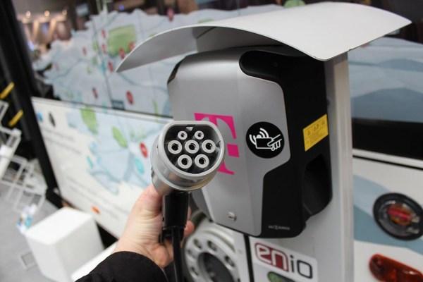 Charging station for electric cars - Telekom Cebit plug