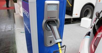 Ladestation für Elektroautos auf der Cebit