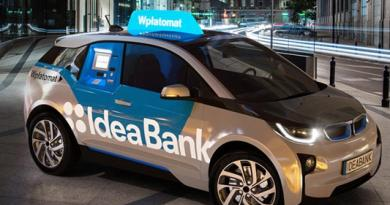 Das Elektroauto BMW i3 wird als fahrender Geldautomat eingesetzt. Foto: Idea Bank