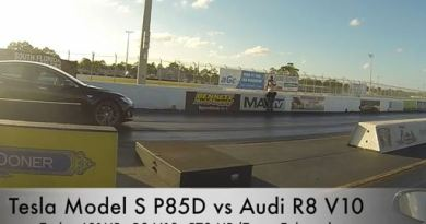 Elektroauto Tesla Model S P85D vs Audi R8. Bildquelle: DragTimes/Youtube