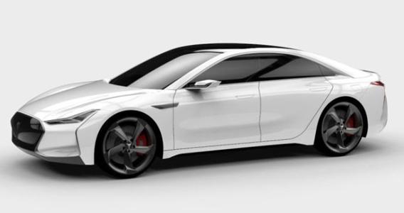 So sieht das Elektroauto von Youxia aus, es erinnert stark an das Elektroauto Tesla Model S. Bildquelle: Youxia