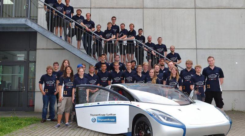 Der ThyssenKrupp SunRiser. Bildquelle: SolarCar – Team der Hochschule Bochum