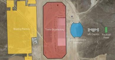 Satellitenbild zeigt die Tesla Gigafactory