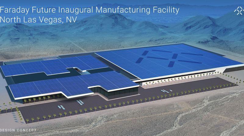 So könnte die Fabrik von Faraday Future bei Las Vegas aussehen, in der das Unternehmen seine Elektroautos produzieren will. Bildquelle: Faraday Future
