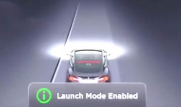 Elektroauto Tesla Model S P85D - Launch Mode