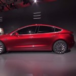 Electric car Tesla Model 3. Source: Tesla Motors