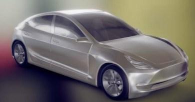 Interaktives 3D Modell des Elektroauto Tesla Model 3. Bildquelle: Mike Pan - http://mikepan.com/