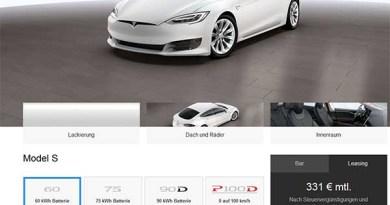 So viel kostet die neue Riesenbatterie für die Elektroautos von Tesla Motors. Bildquelle: Screenshot von www.TeslaMotors.com