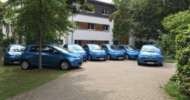 Die Lebenshilfe Erfurt setzt 9 Elektroautos ein, dazu gehören 8 Renault Zoe und 1 Renault Kangoo Z.E.. Bildquelle: Renault / Lebenshilfe Erfurt