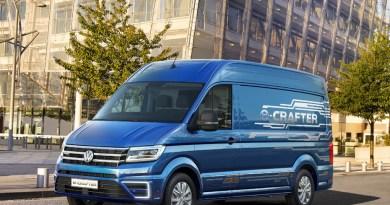 Auf der IAA für Nutzfahrzeuge in Hannover wird das Elektroauto VW e-Crafter präsentiert. Bildquelle: VW AG