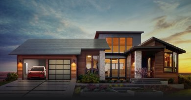 Haus mit dem Tesla Solar Roof. Bildquelle: Tesla Motors
