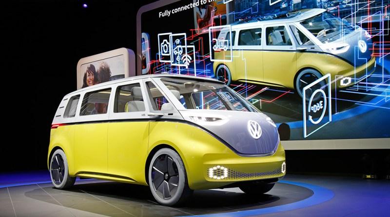 Elektroauto VW ID Buzz auf der Automesse NAIAS 2017 in Detroit. Bildquelle: Volkswagen AG