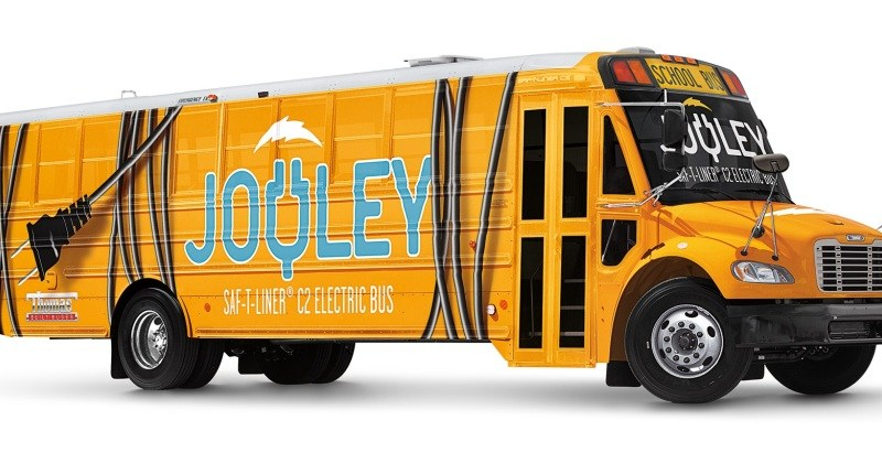 """Ikone unter Strom: Daimler stellt seinen ersten vollelektrischen Schulbus in den USA vor"" ""An icon goes electric: Daimler introduces its first all-electric school bus in the US"". Bildquelle: Daimler"