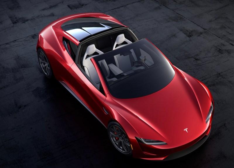 Elektroauto Tesla Roadster 2 von oben. Bildquelle: Tesla