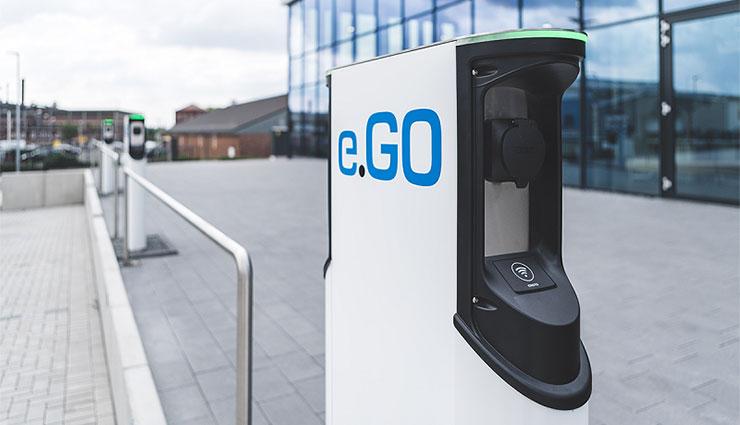 Elektroauto e.GO-Life-Ladestation für Unternehmen. Bildquelle: e.Go Mobile
