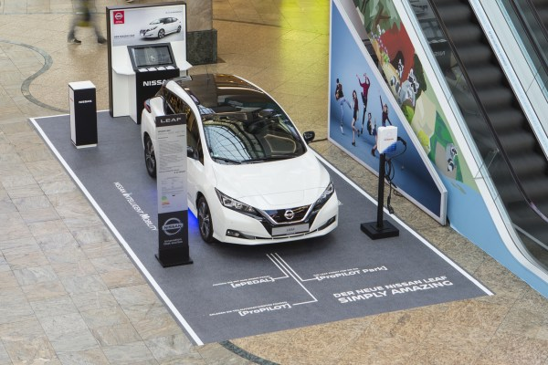 Shop and watch: The Nissan LEAF on roadshow in the big shopping malls. Source: Nissan