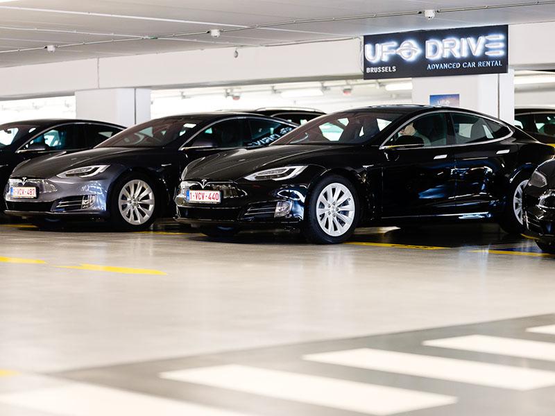 Elektroauto Tesla Model S mieten, Ufodrive-Standort Brüssel . Bildquelle: Brüssel