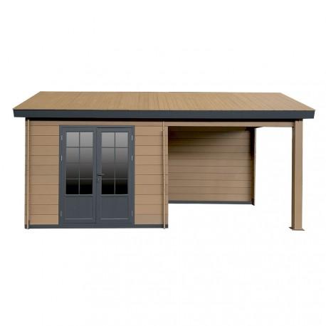 gartenhaus aus wpc altholz 9m 9m terrasse woodlife