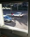 Blick auf den Parkplatz
