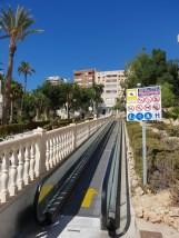 Rolltreppen am Strand