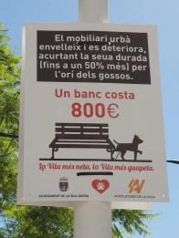 Warnschild für Hundebesitzer