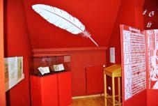 Aus wessen Feder stammt das erste Till Eulenspiegel Buch? Dieser Frage widmet sich die rote Ecke des Museums...