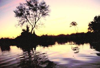 Abendstimmung auf dem Wasser