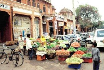 Spontaner Gemüsemarkt