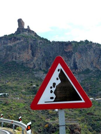 Vorsicht Steinschlag