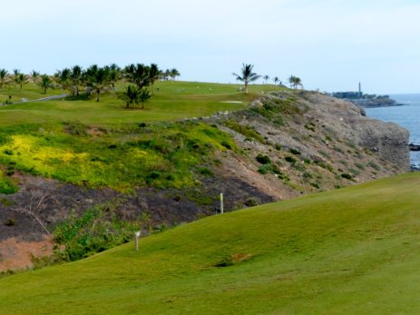 Meloneras Golf, Hopp oder Top - 180 Meter sind gefragt!