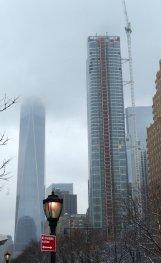 Finanz Distrikt im Nebel