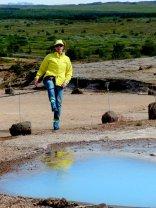 Farbspiel in heissen Wasser von Haukadalur