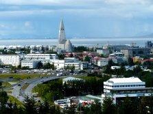 Blick auf Reykjavik - Island